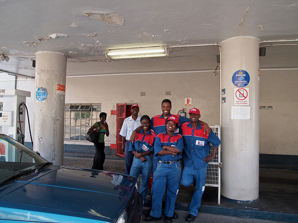 Service Station Workers on Sam Nujoma ©2011 Jason Hindle