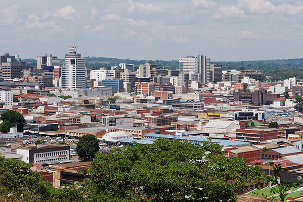 The Harare Cityscape From a Kopje @2010 Jason Hindle